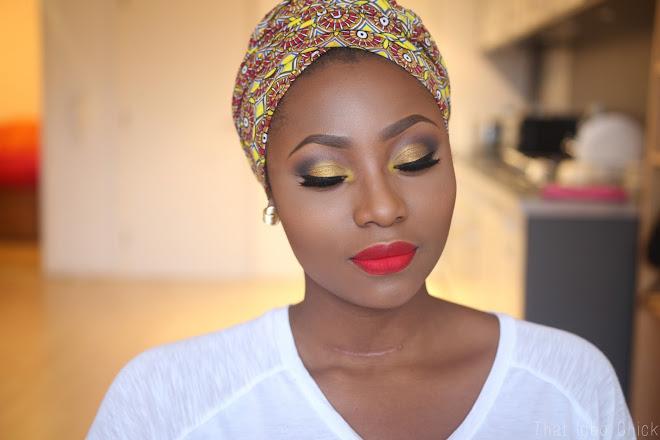 Black woman makeup tutorial