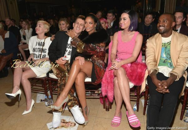 Miley Cyrus, Jeremy Scott, Rihanna, Katy Perry & Kanye West