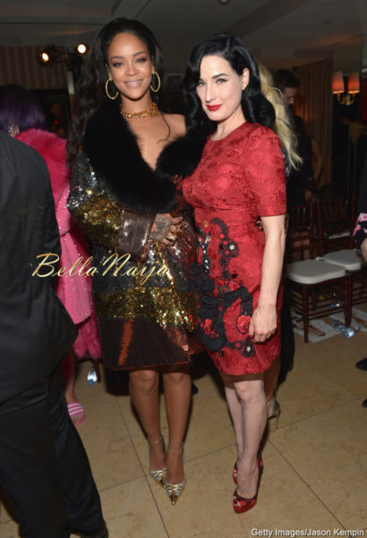 Rihanna & Dita Von Teese