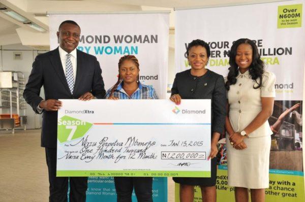 DiamondWoman Special Draw  Nkiru Perpetua Mbanefo: N100,000MonthlyAllowance for one year