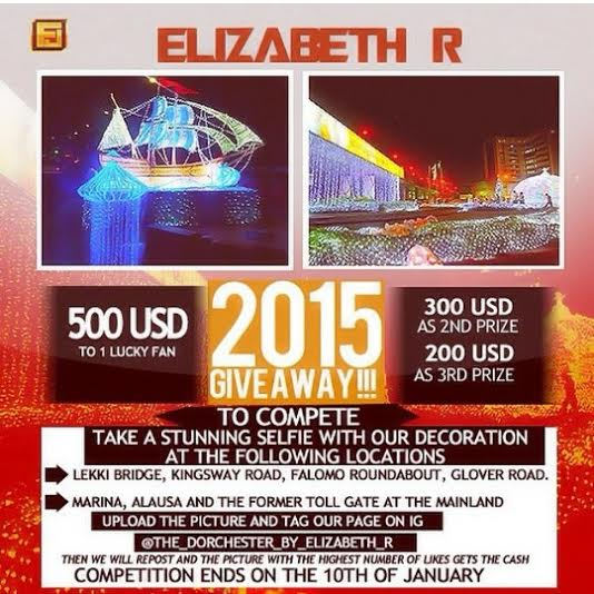 Elizabeth R Giveaway - BellaNaija - January 2014