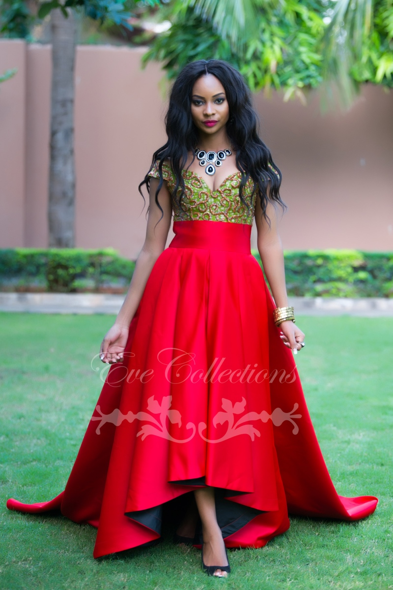Top tanzanian designer eve collections presents in love with red
