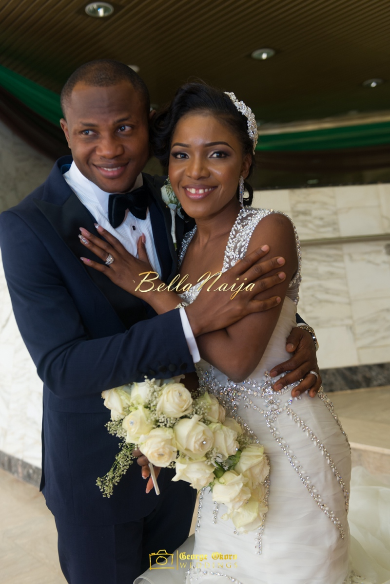 Ine & Simeon | President Jonathan Family Wedding | January 2015 | BellaNaija .George Okoro-511