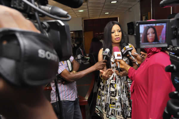Monalisa Chinda fields questions from Press