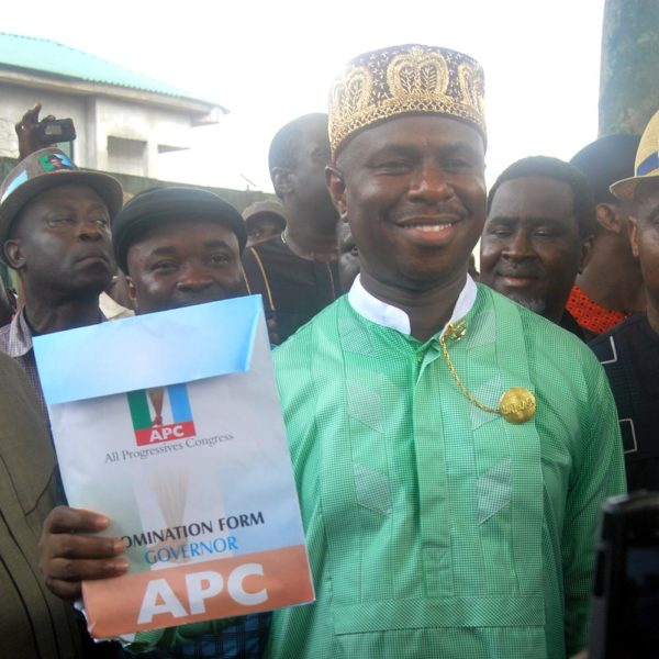 PIC. 10. RIVERS APC CONSENSUS GOVERNORSHIP ASPIRANT COLLECTS NOMINATION FORM IN PORT HARCOURT