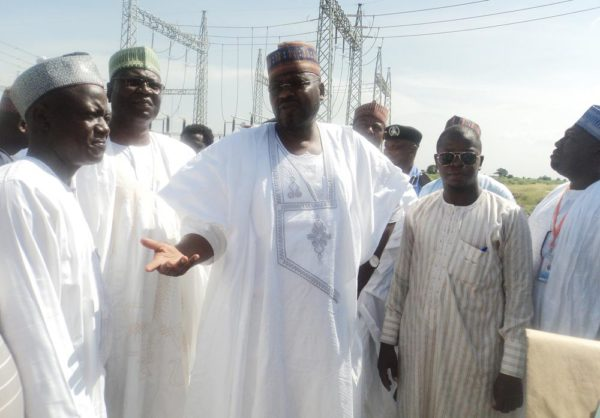 PIC.1. MINISTER OF STATE FOR POWER VISITS MOLE POWER 33 KVA
