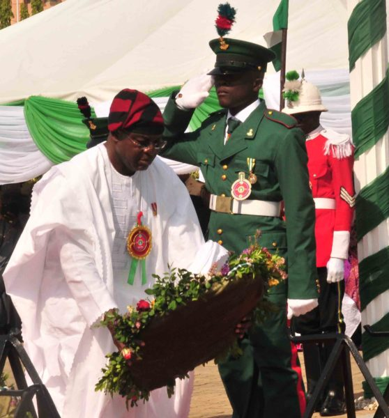 PIC.3.  WREATH LAYING FOR  2015  ARMED FORCES REMEMBERANCE DAY IN ABUJA