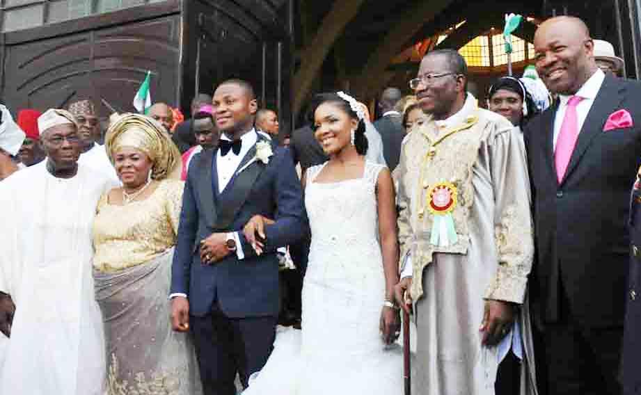 PIC.8.PRESIDENT  JONATHAN'S  NIECE WEDDING IN ABUJA