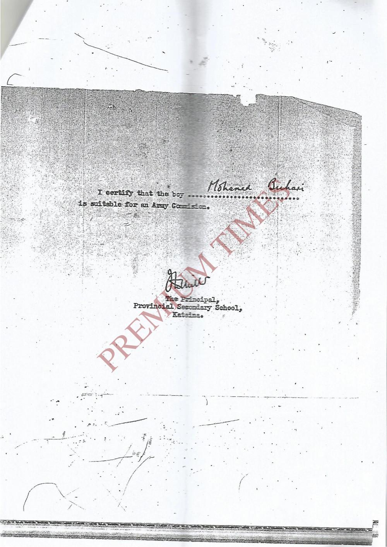 PHOTOS Nigerian Army Publicly Releases Gen Muhammadu Buharis