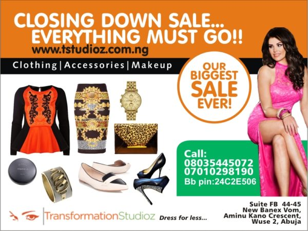 Transformations Studioz Closing Down Sale - BellaNaija - January2015