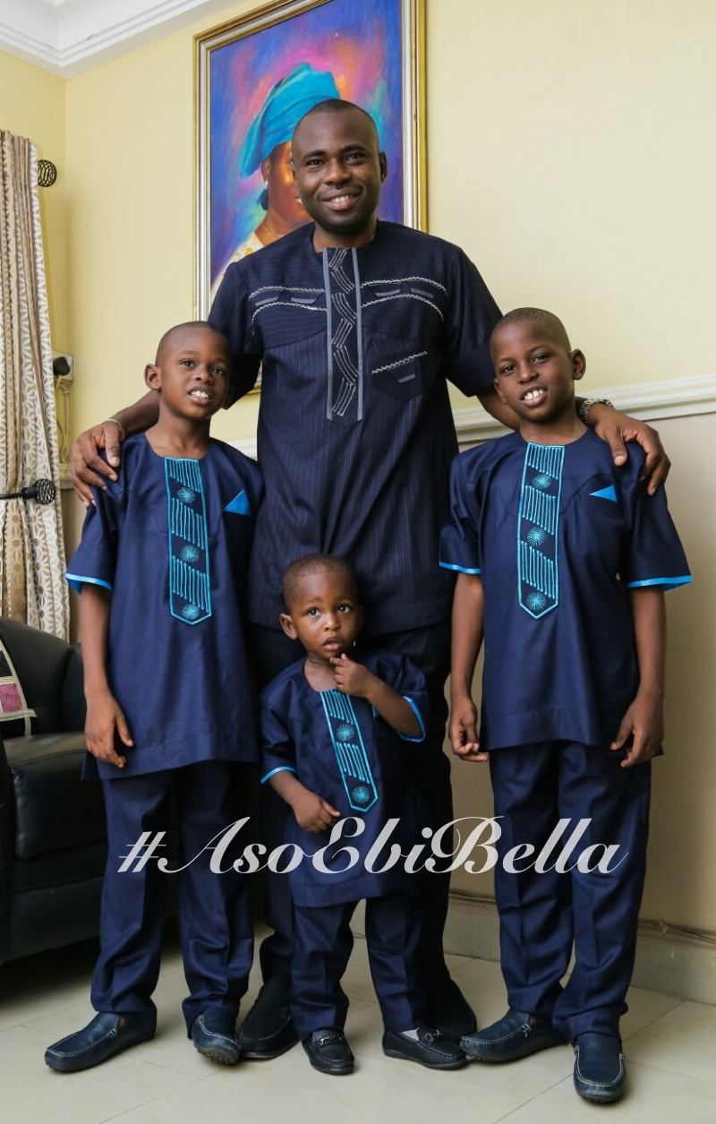 Tunde and sons! Oluwatobi, Oluwatoni and Oluwatomisire