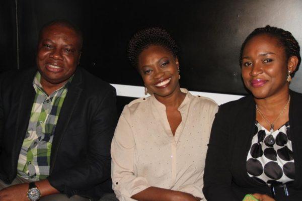 Vice President, Consumer Sales & Service, Etisalat Nigeria, Ken Ogujiofor; Nigerian Idol Season 5 Judge, Yinka Davies and Mrs Pedro