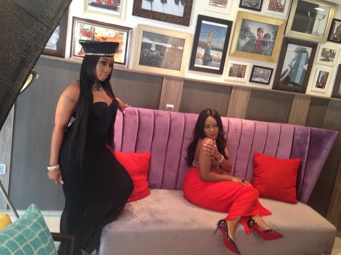 Victoria Kimani & Emma Nyra BTS The Celebrity Shoot - BellaNaija - January2015