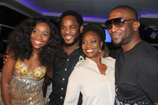 Winner, Nigerian Idol Season 4, Evelle; Director, Brand & Experience, Etisalat Nigeria, Enitan Denloye and Nigerian Idol Season 5 Judges, Yinka Davies and Darey Art Alade