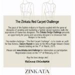 Zinkata Challenge Call to Entry