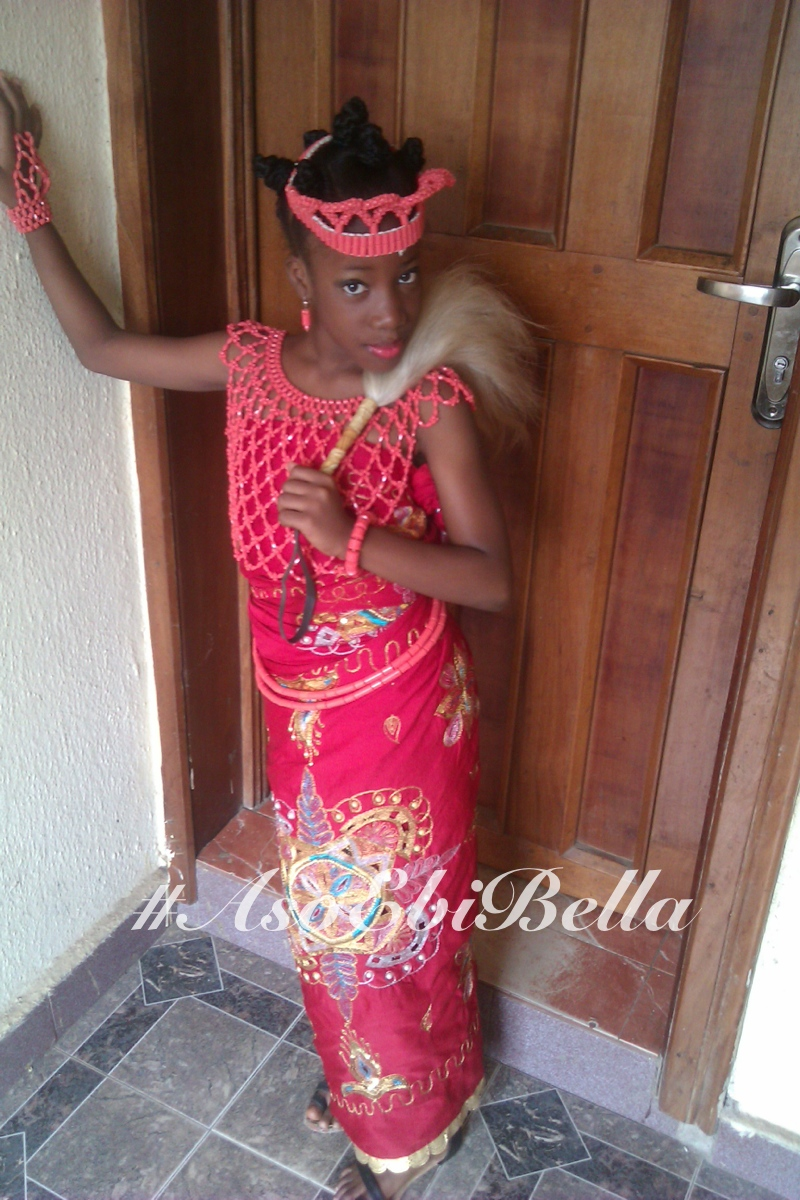 edo beads kid outfit 2 aso ebi, asoebi,