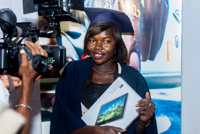 A matriculant with her Vigitab