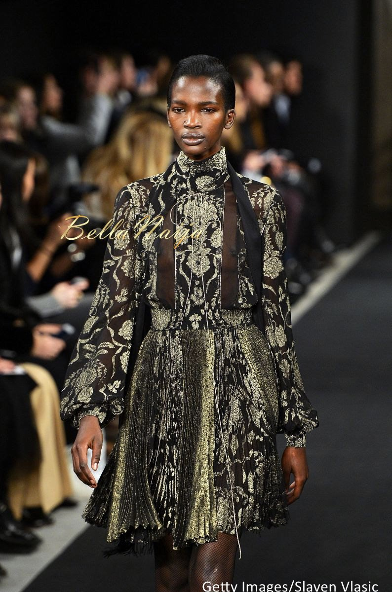 Aamito Stacie Lagum at New York Fashion Week 2015 - Bellanaija - February2015001