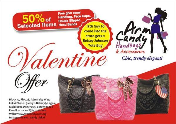 Arm Candy Handbags & Accessories Valentine's Day Offer - BellaNaija - February2015