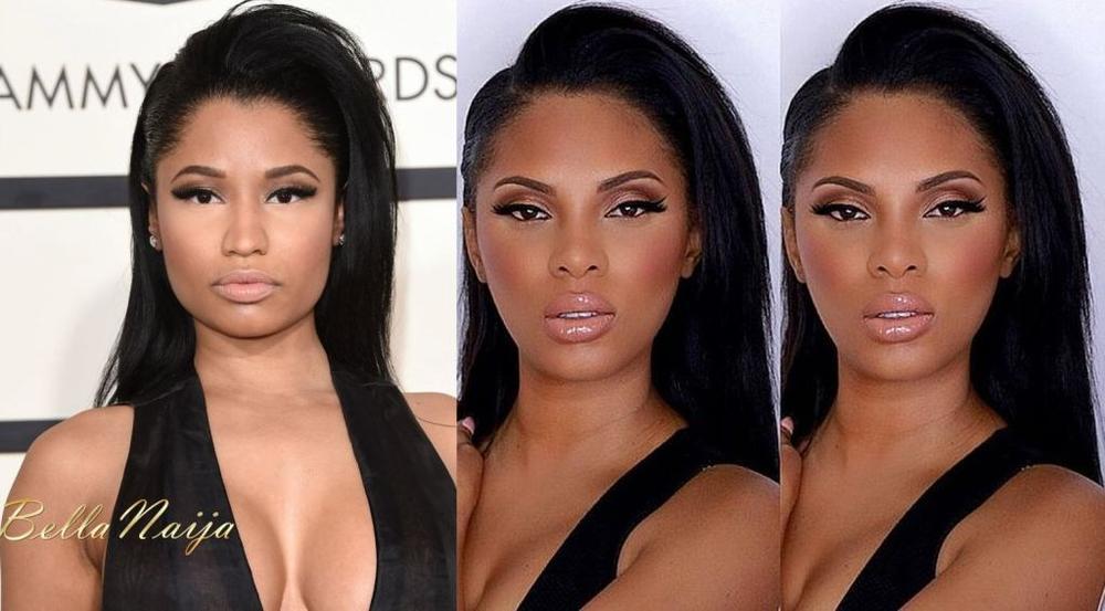 BN Beauty MsRoshPosh Nicki Minaj Grammy Makeup Look - BellaNaija - February 2015001