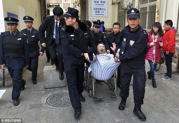 Chinese Man ejected