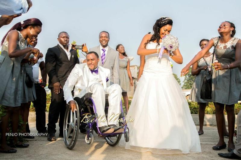 Fule & Elvis | Penjo Entertainment Cameroon | couple, wheelchair love story | BellaNaija Weddings11