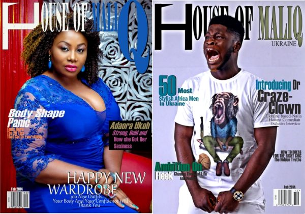 HouseOfMaliq-Magazine-Adaora-Ukoh-and-Dr-Craze-Clown-February-Edition-2015-Cover-Editorial-dss