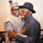 Jonathan hugs Buhari