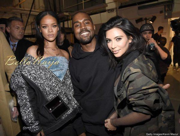 Rihanna, Kanye West & Kim Kardashian
