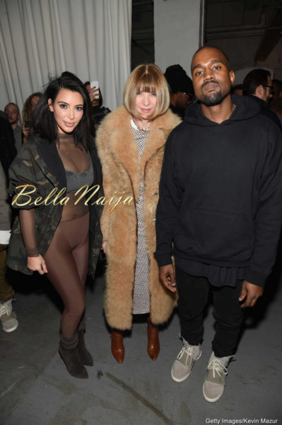 Kim Kardashian, Anna Wintour & Kanye West