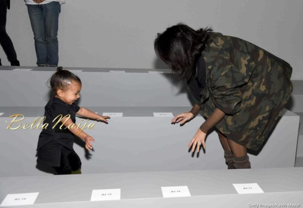 North West & Kim Kardashian