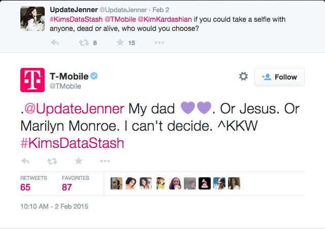 Kim Kardashian West-T-Mobile Selfie Chat