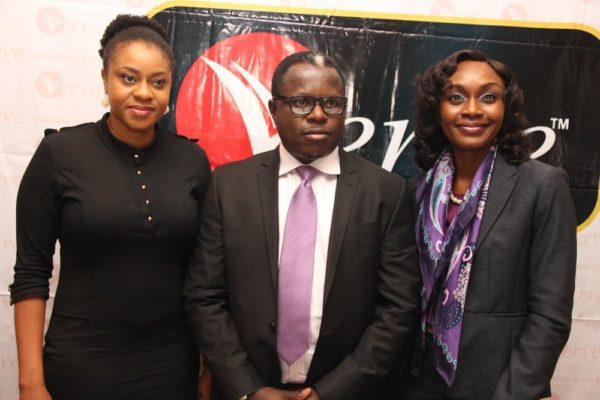 L-R, Consumer Segments Marketing Manager, Interswitch, Enyioma Anaba, Group Head, Issuer Management, Interswitch, Ugo Bassi and Country Manager, Verve - Nigeria, Oremeyi Akah during the Verve Truly African Campa