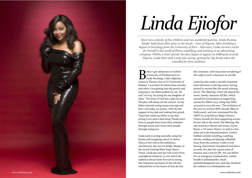 Linda Ejiofor for Cedar Magazine February 2015 Issue - Bellanaija - February2015002