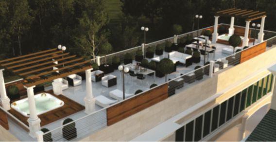 Living Area - A Jacuzzi/Terrace