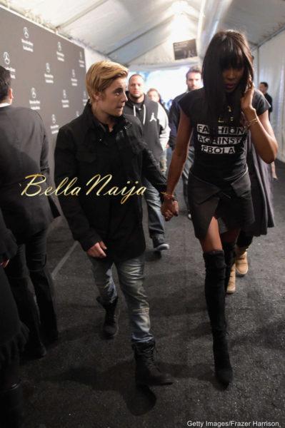 Justin Beiber & Naomi Campbell