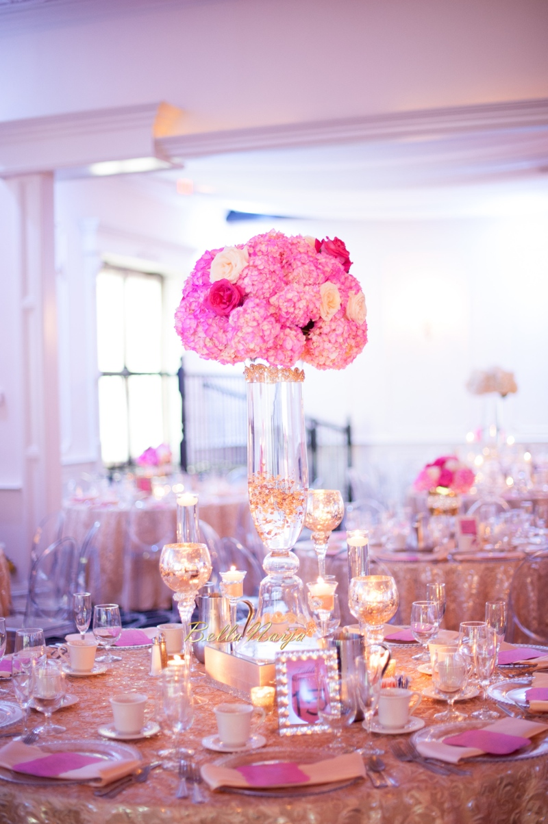 decor gold pink omo reception bellanaija emmanuel weddings usa dreamy bn event nigerian events jersey decorations receptions maida jessica