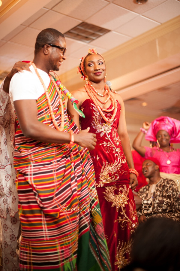 Omo & Emmanuel | BellaNaija Weddings | Nigerian Edo Wedding in New Jersey, USA | Decor by Lily V Events.Traditional-684