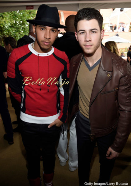 Lewis Hamilton & Nick Jonas
