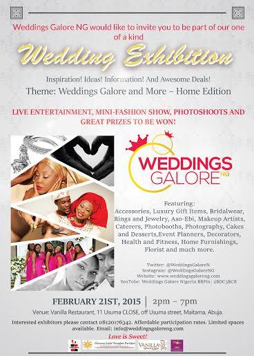 Weddings Galore Exhibition - BellaNaija - February 2015
