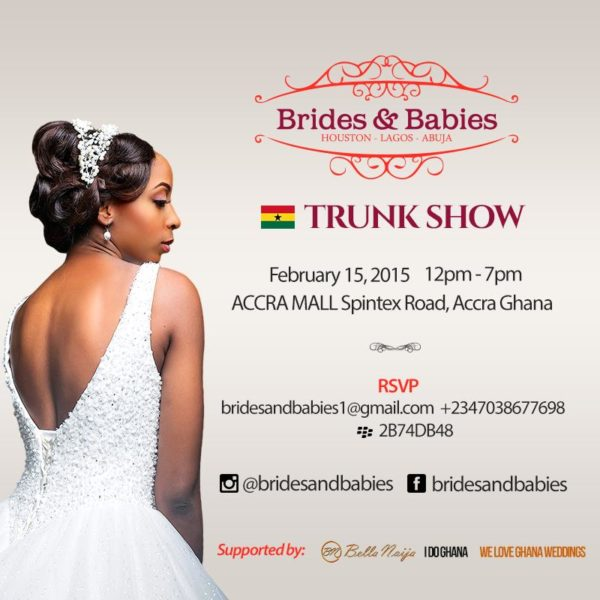 brides and babies accra trunk show