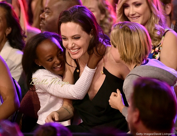 Zahara Marley Jolie-Pitt, Angelina Jolie and Shiloh Nouvel Jolie-Pitt