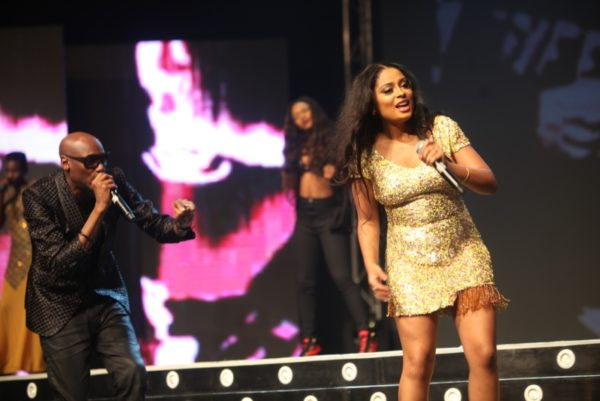 "2Face & Lola Rae Perform  ""Let Somebody Love You"" after Basket Mouth's Routine"