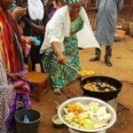 Aisha Buhari frying akara