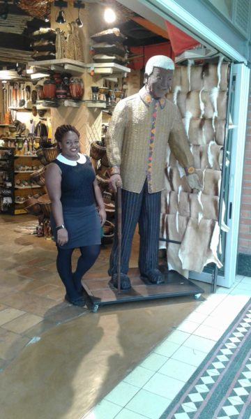 Guess who got to meet Nelson Mandela?