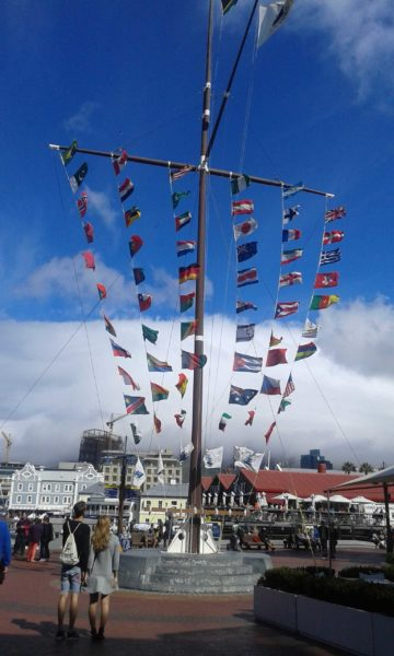 Flags of African countries at Victoria's Wharf