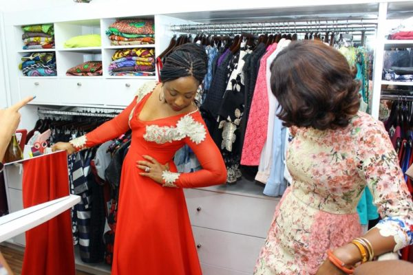 Dakore and Mobo Biobaku of Mobo's Fashion Ltd