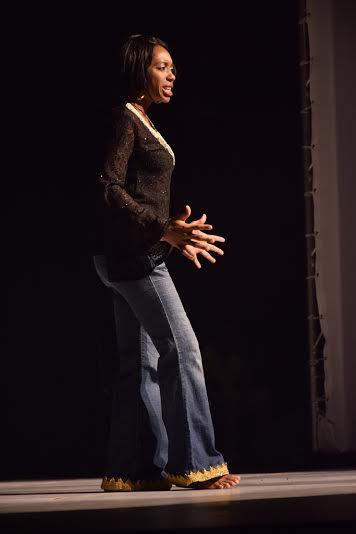 "Omono Somolu renacting Nadia Davids ""An Imperfect Blessing"""