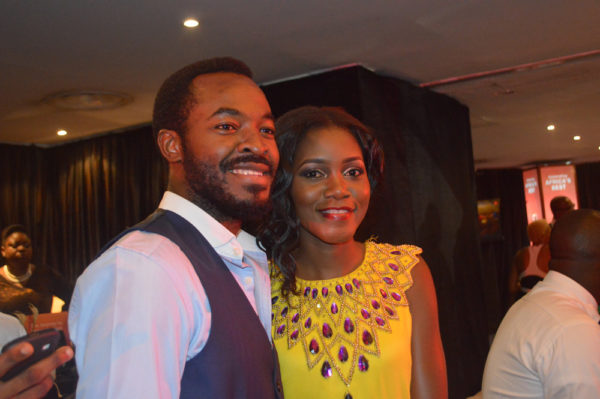 Fidelia Unifoh and O.C Ukeje at the Nominees Cocktail