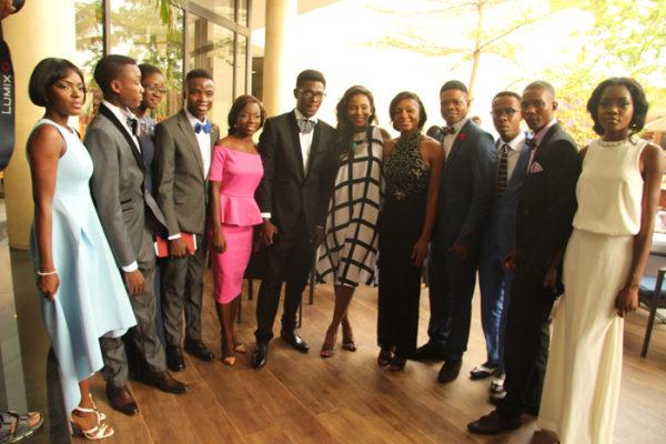 Genevieve Nnaji and the 11 students